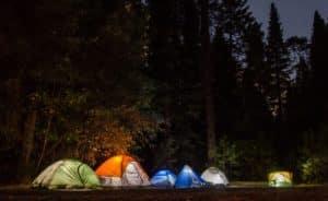 Camping med tält, resmedbarn.nu
