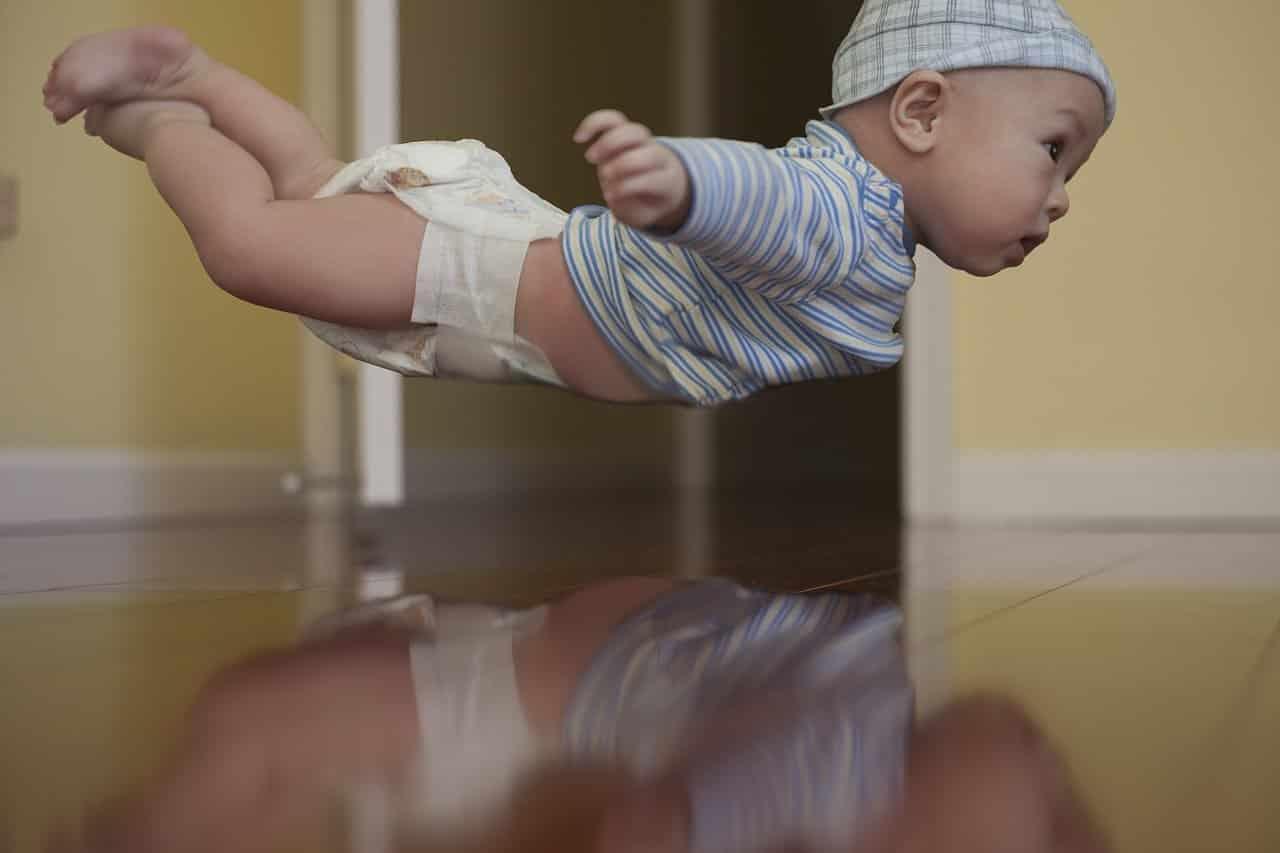 flyga med spädbarn