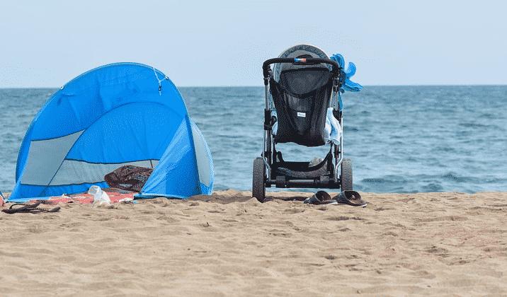 Barnvagn i sanden, hyra eller inte?