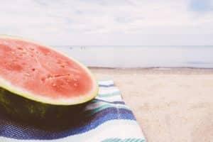 mellanmål på stranden